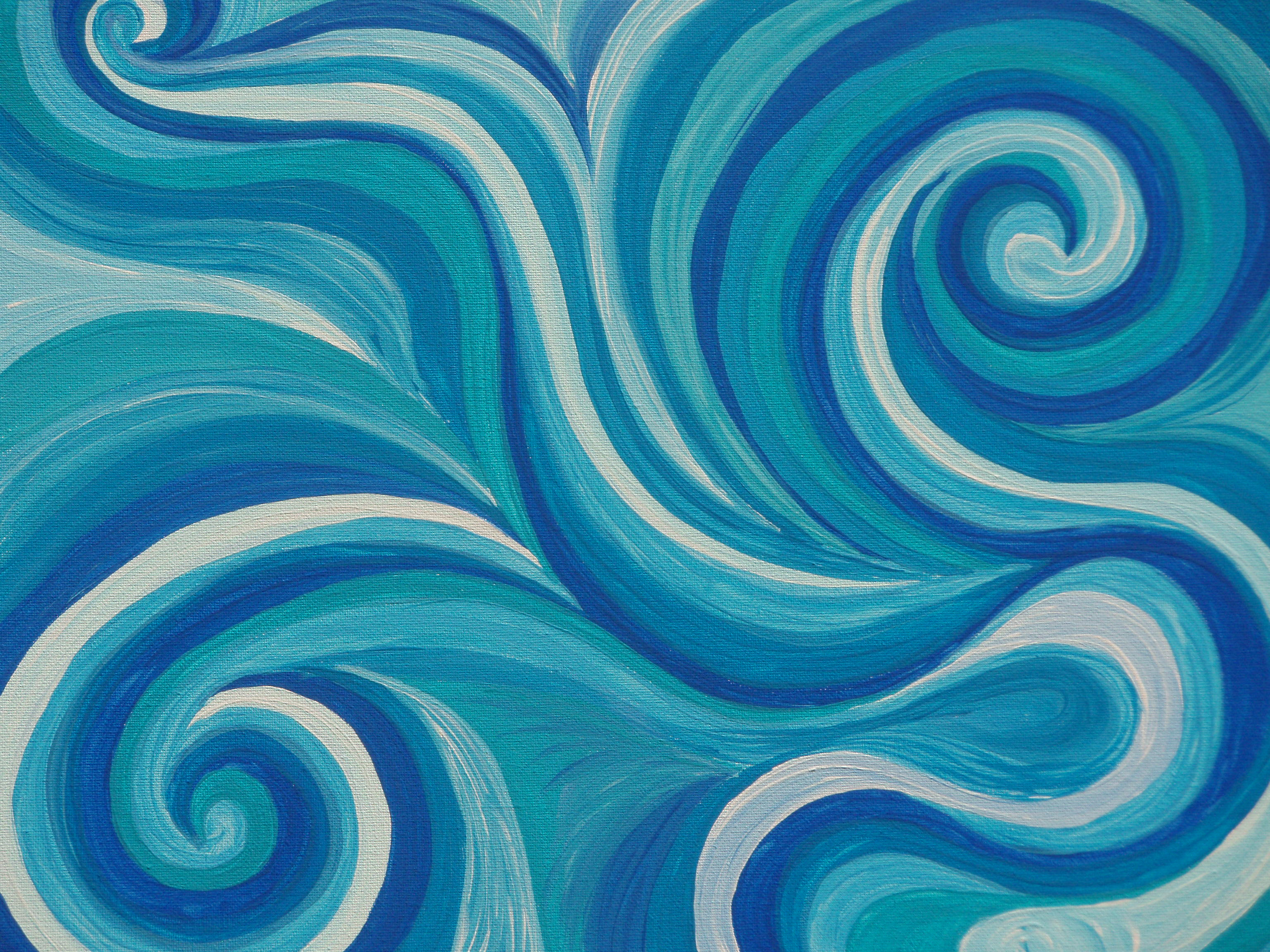 Relaxing Colours Swirls Michelle Anderson Art